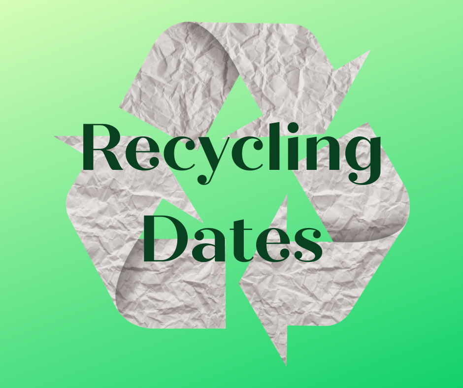 Cardboard & Newspaper Recycling Dates